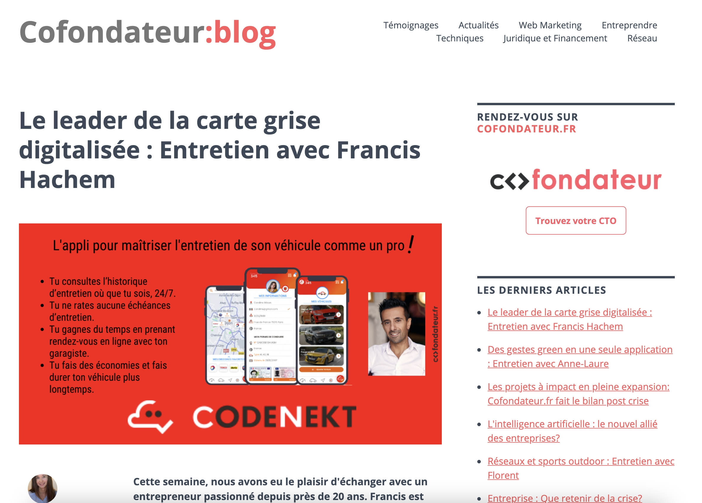 Retour sur la création de la startup CodeNekt et la rencontre avec Jérôme le CTO !